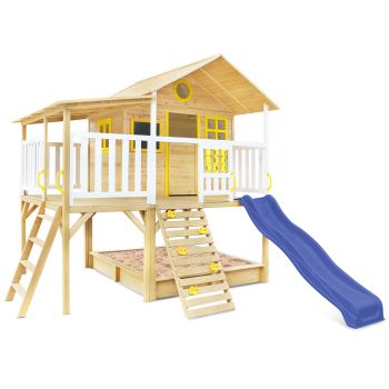 Lifespan Kids Warrigal Cubby House with Pergola (Blue Slide)