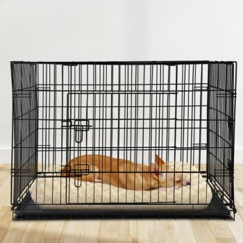 """i.Pet 42"""" Dog Cage Pet Crate Puppy Cat Foldable Metal Kennel Portable 3 Doors XL"""