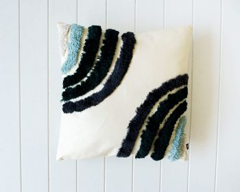 Tufted Cushion - Ocean Double Rainbow - 45x45