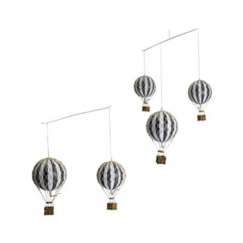 Authentic Models Hot Air Balloon Mobile - Black