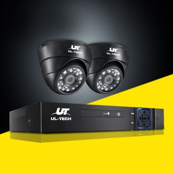 ULtech CCTV Camera Security System 4CH DVR HD 1080P Outdoor IP Kit Day Night