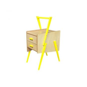 Swing Side End Table - Yellow