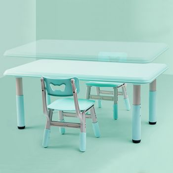 ALL 4 KIDS Alex Height adjustable Table and 2 Chair - Blue