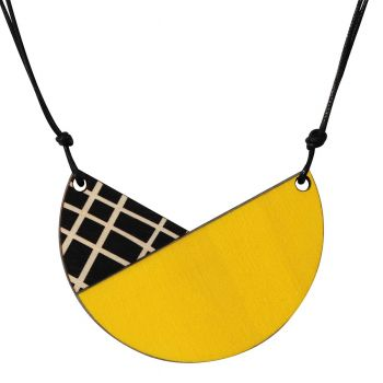 Tulip necklace with crosses in yellow