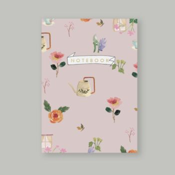Rose Gardening dotted notebook 80 pages A5