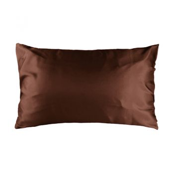 Std Satin Pillowcase 48cm x 73cm Chocolate