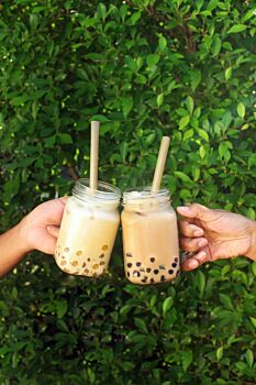 Sugarcane straws - Bubble tea size (wrapped paper) Length 210 x diameter 12 mm, pack of 1,000 straws