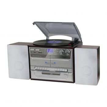 HOME ENTERTAINMENT SYSTEM CD/TURNTABLE/DUAL CASSETTE BURNS TO DIGITAL MEDIA