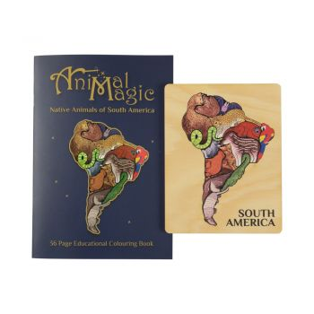 Animal Magic South America Puzzle and Colouring Book combo!