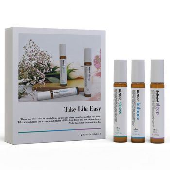 Essential Oils Roll-On Gift Set - Oils for Stress, Balance and Sleep - 3 x 10ml Roll-on bottles