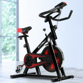 Everfit Spin Bike Exercise Bike Cycling Fitness Commercial Home Workout Gym Equipment Black