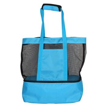 2 IN 1 BEACH AND COOLER BAG 60X40X15CM BLUE