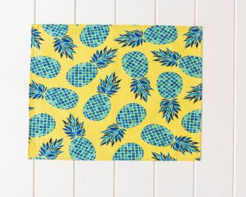 Placemat - Linen Look - Chartreuse Pineapple - 42x33cm