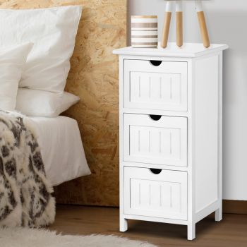 Bedside Tables Chest of Drawers Storage Cabinet Wooden Organiser Bathroom