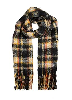 Women's Bold Checked Scarf - ONE