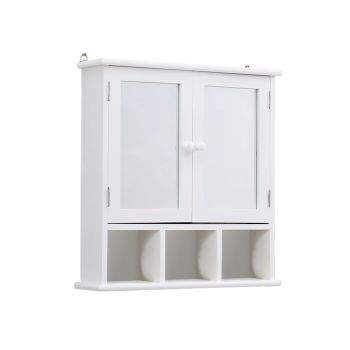 Levede Wall Hanging Storage Cabinet for Towel Hanging in Bathroom