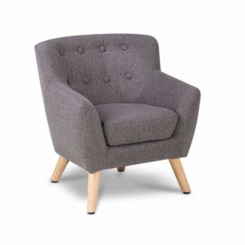 Kids Furniture Fabric Armchair Grey