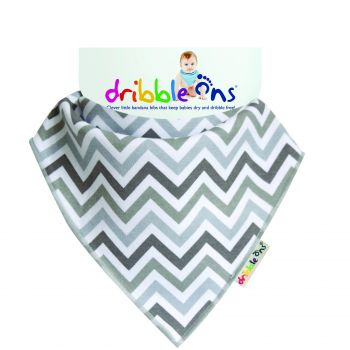 DRIBBLE ONS Grey Chevron