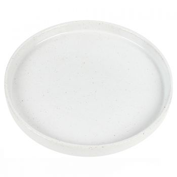THEO SMALL PORCELAIN PLATE 16 X 16 X 2CM