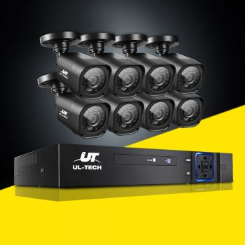 ULtech CCTV Camera Security System 8CH DVR 1080P Cameras Outdoor 2MP IP Kit