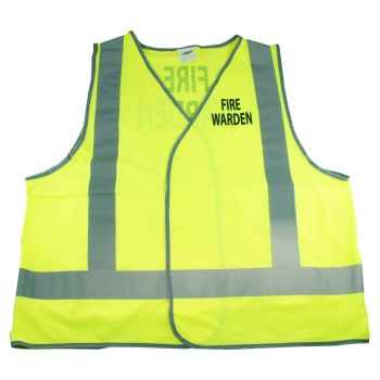 Vest with FIRE WARDEN print - Day/Night