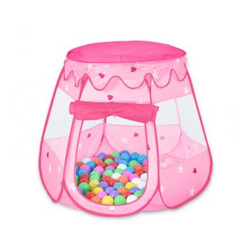 BoPeep Kid Children Pop Up Ball Pit Play Tent Cubby Playhouse Kids Gift Toy Pink