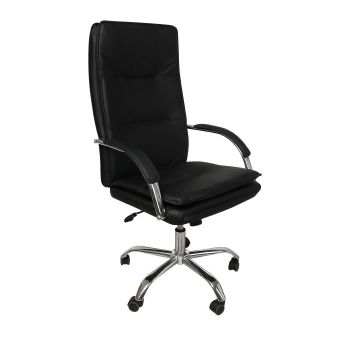 Exective Gaming Chair PU Leather Office Chairs Seat Computer in Black