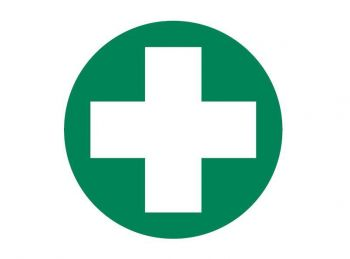 First Aid Cross Only Decal 50mm diameter