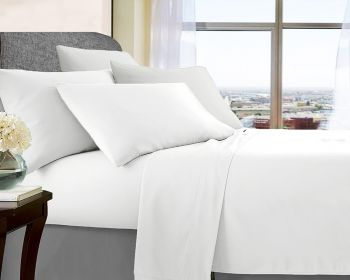 Queen Bed Soft Brushed Microfibre Sheet Sets in White