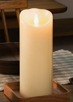 """7"""" Ivory 3D Flickering Flame LED Candle"""