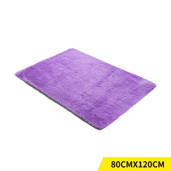 Designer Shaggy and Soft Home Decor Floor Rug 80x120cm in Purple