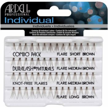 Ardell Professional Duralash Individual Lashes (Brown Flare, Combo Pack)