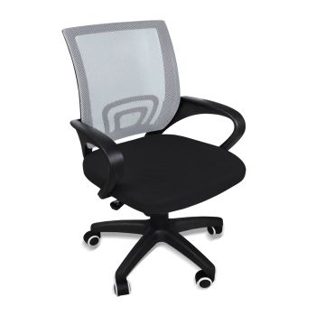 Office Ergonomic Mesh Computer Gaming Chair with Wheels in Grey