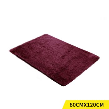 Designer Shaggy and Soft Home Decor Floor Rug 80x120cm in Burgundy