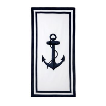 Anchor Print Design Velour Beach Towel