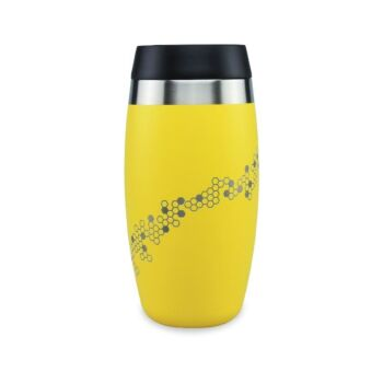 Ohelo Yellow Tumbler With Etched Bees 400ml