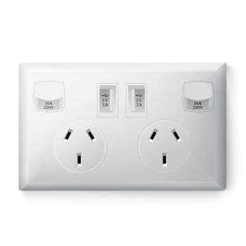 Dual USB Wall Socket Power Point Outlet SAA