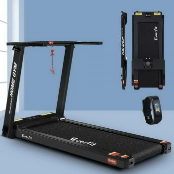 Everfit Electric Treadmill M6BK 420mm Belt 12kmh Fully Foldable Home Gym Exercise Running Machine Fitness Equipment Compact Black