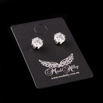 Mad Ally Diamante Earrings 6mm
