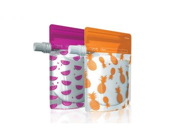 On the Go Baby Food Pouches - Neon Melon & Hot Pineapple Special Edition 10 pack