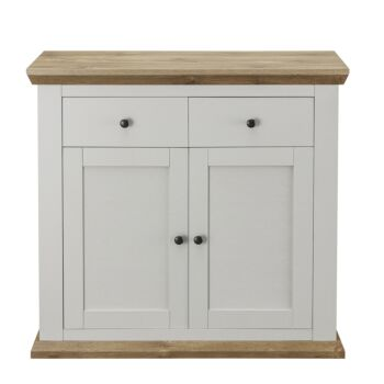 Cosmoliving Buffet Sideboard Cabinet 2 Door 2 Drawer Compact Buffet Table Carboard  (Pine Effect Top)