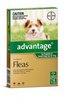 Advantage Flea Control for Dogs under 4kg - 6-Pack
