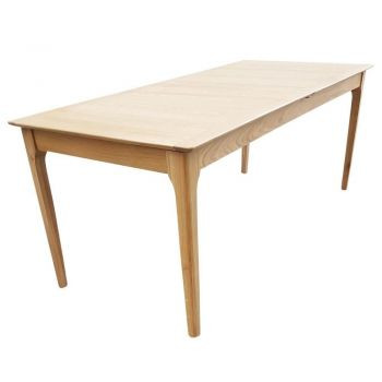 6IXTY Nordic Trend Extendable Oak Rectangular Dining Table - 200 To 250cm