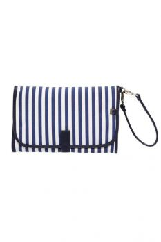 Change Clutch - Navy/White Stripe