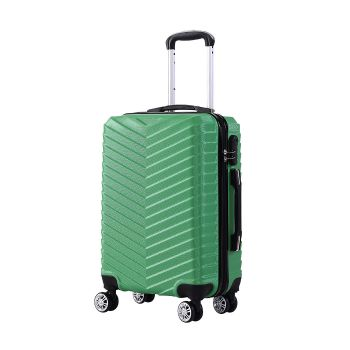 "20"" Travel Luggage Suitcase Case Lightweight Trolley Cases in Green"