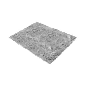 Shaggy and Soft Fur Carpet Floor Rug Mats 60x120cms in Grey
