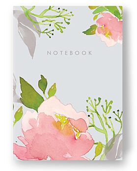 Pink Peony - lined notebook 52 pages A6