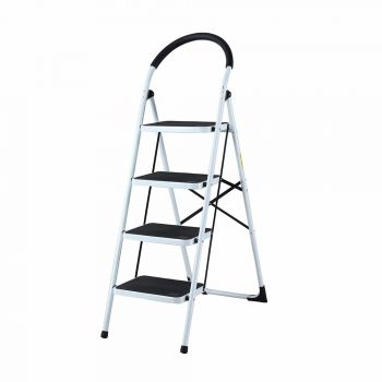4 STEP LADDER MULTI PURPOSE FOR HOUSEHOLD OFFICE FOLDABLE NON SLIP
