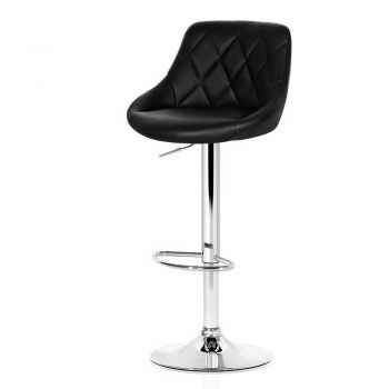 Artiss 4x Kitchen Bar Stools Swivel Bar Stool PU Leather Gas Lift Chairs Black