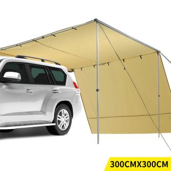 Mountview Car Awning Extension Roof Cover 3x3M in Khaki Colour